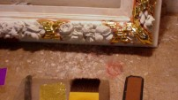 Poleirea ramelor cu aur: Detaliu
